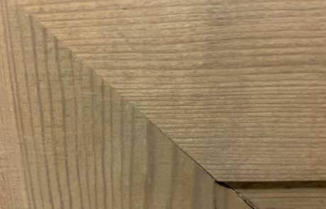 La fibre du bois est intacte.